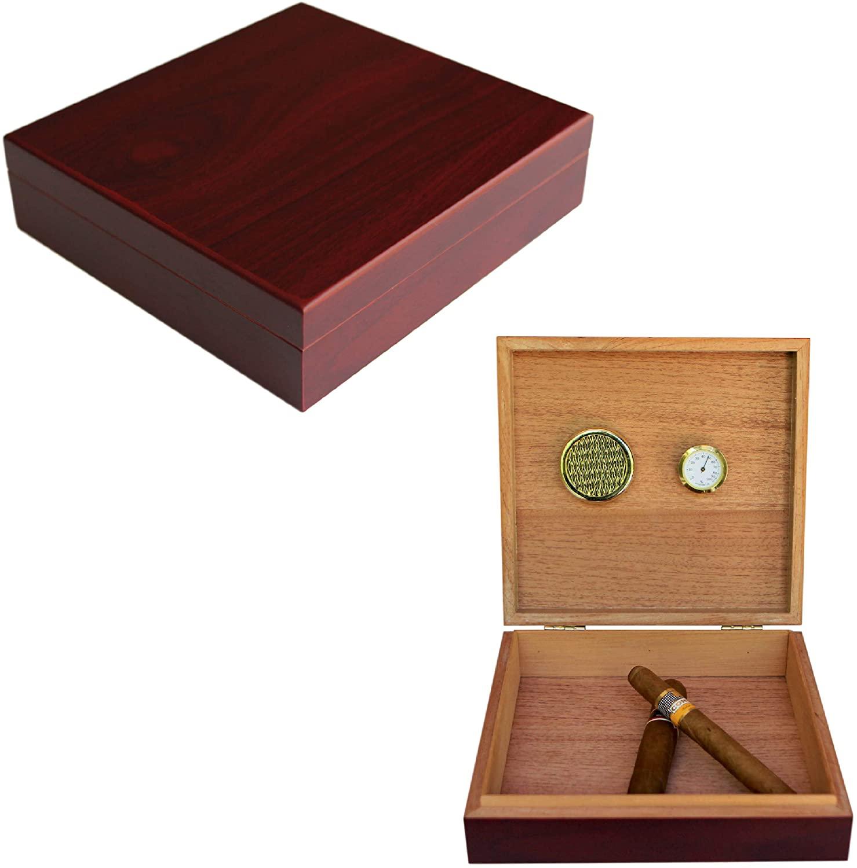 Case Elegance Cigar Humidor (Cherry)