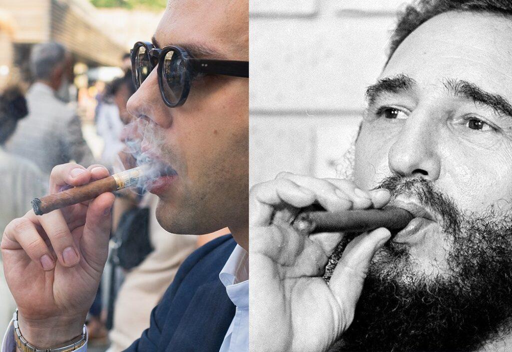 Hold A Cigar - Respectful Grip