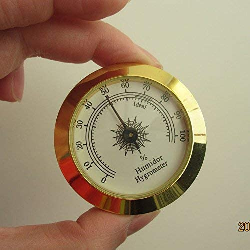 Mr. Bofly Round Golden Cigar humidor hygrometer